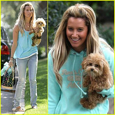 Ashley Tisdale with her cute dog