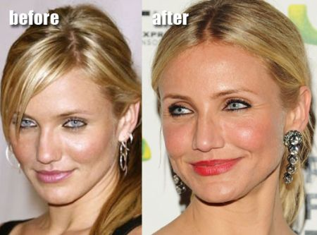Cameron Diaz nose job before and after