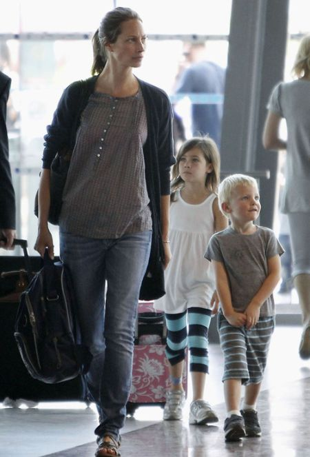 Christy Turlington with her kids - Grace and Finn