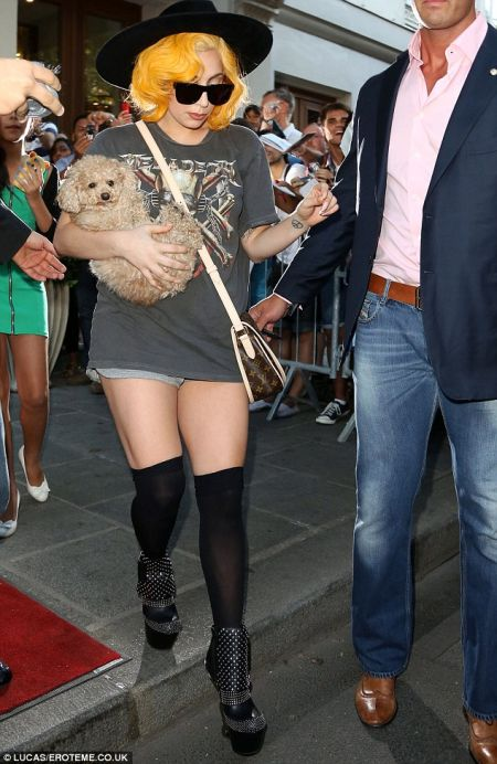 Lady Gaga with her pet