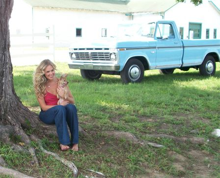 Laura Bell Bundy with her pet