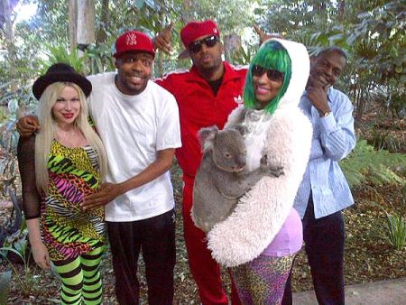 Nicki Minaj at the Lone Pine Koala Sanctuary