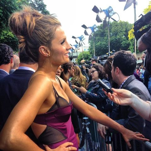 Stana Katic at the elysium premiere