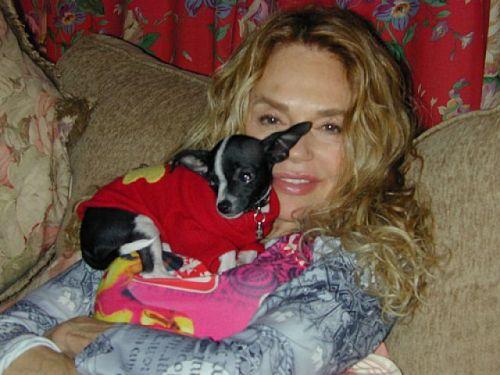 Dyan Cannon & her dog J.C.