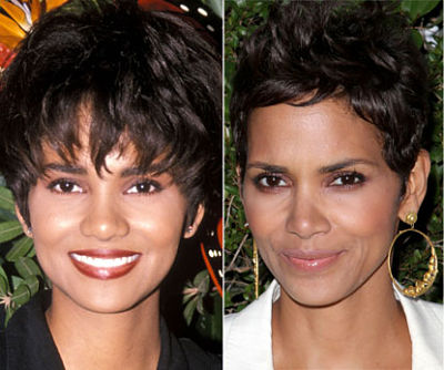 Halle Berry Nose Job before and after