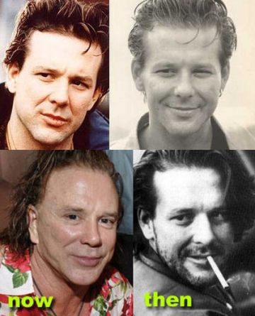 Mickey Rourke now and then