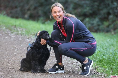 Stacy Keibler with dog