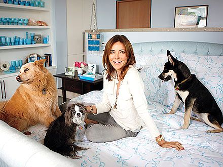 Christa Miller with pets